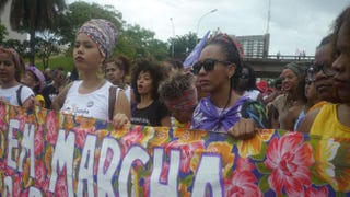 More than 10,000 women from all over Brazil participated in the nation's first March of Black Women in Brasilia, the country's capital. The women marched 5 kilometers Nov. 18, 2015, toward the Praça dos Três Poderes, a plaza in the capital. Kiratiana Freelon