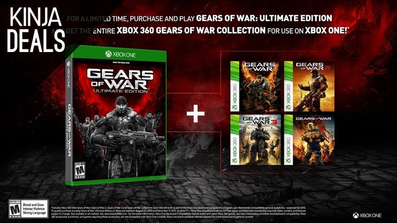 Illustration for article titled Preorder Gears of War Ultimate, Get a $10 Gift Card and Four Games