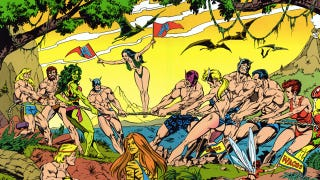 Illustration for article titled The 1989 Avengers Male Beauty Pageant Informed Us Hawkeye Had A Fantastic Ass
