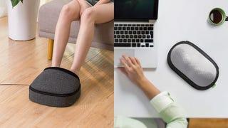Masajeador de pies Mynt con calor | $52 | Amazon | Usa el cupón de $4Almohada masajeadora Mynt sin cables | $35 | Amazon | Usa el código promocional PILL2018