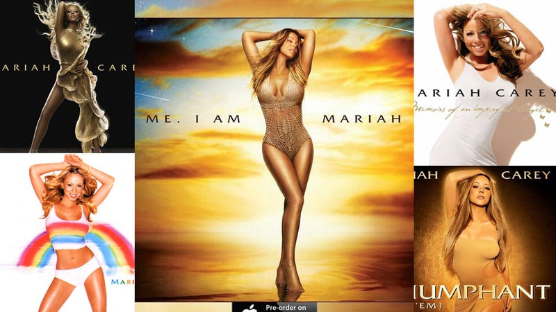 Illustration for article titled Mariah Carey Sticks With Signature Pose for New Album Cover