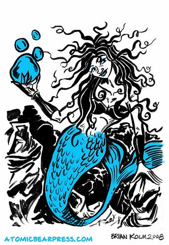Illustration for article titled Bizarre Mer-men and Mermaids From Scifi History