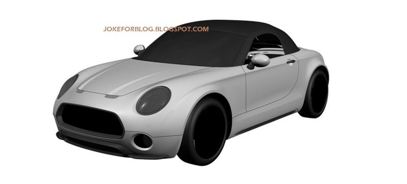 Illustration for article titled Do These Patent Drawings Reveal A Production Mini Superleggera Roadster?
