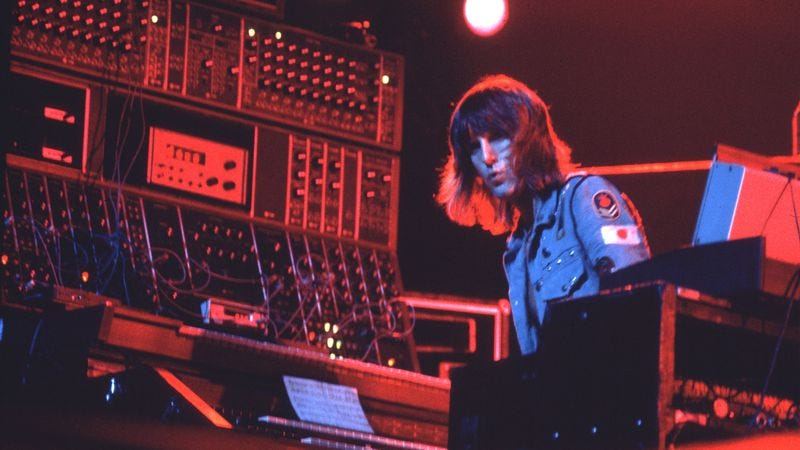 Keith Emerson, playing with Emerson, Lake & Palmer in the 1970s. (Photo: Getty Images)