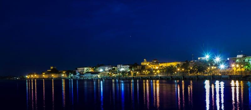 Image of Santo Domingo, the Dominican Republic, at night.