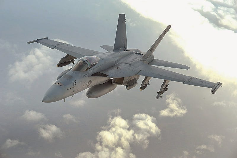 Illustration for article titled Super Hornet Gets Its First Air-to-air Kill