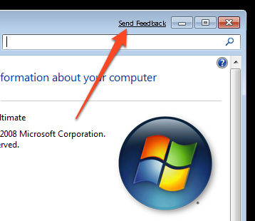 Illustration for article titled Remove the Send Feedback Link from Windows 7's Title Bar
