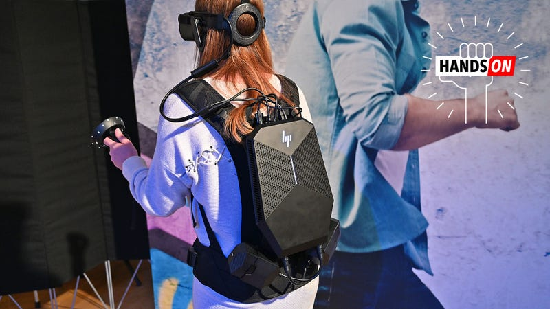 Illustration for article titled HP's Revamped VR Backpack Delivers the Closest Thing to True VR Freedom Yet