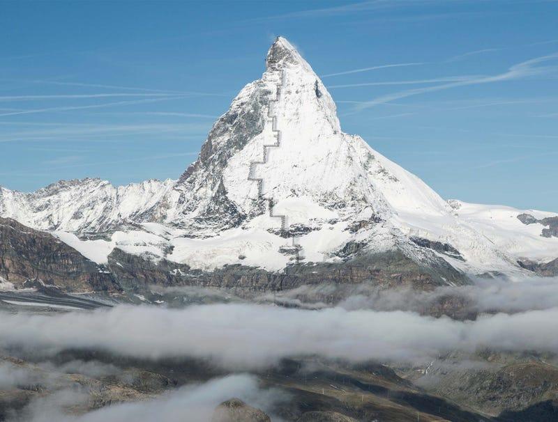 Illustration for article titled Switzerland Passes U.N. Inspection After Erecting Fire Escape On Matterhorn