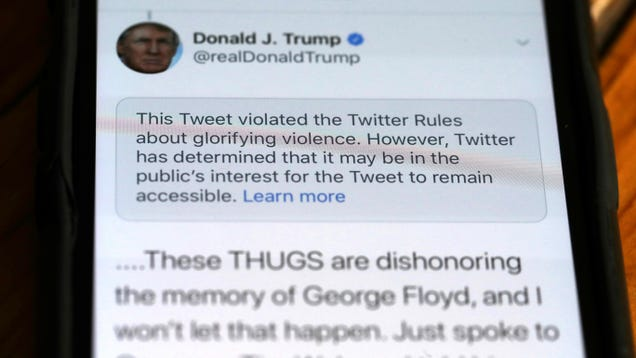 Trump Administration: Social Media Platforms Need to Police Calls for Violence That Aren t the President s