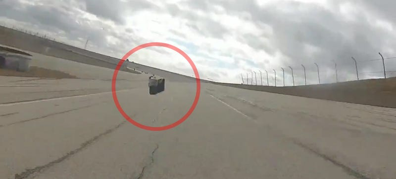 Illustration for article titled This Is What It's Like To Get Hit By A GoPro At 160 MPH