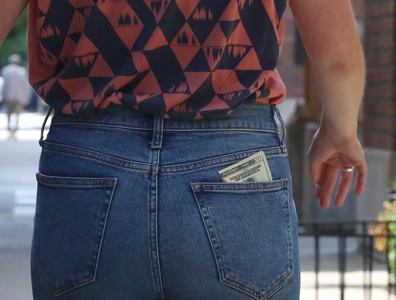 Illustration for article titled $20 Bill Slowly But Surely Wriggling Free From Back Pocket