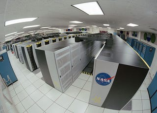 Illustration for article titled NASA's Earth Day Gift Runs On a 56,832-Core, 128-Screen Climate Research Supercomputer