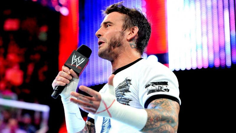 CM Punk in WWE.