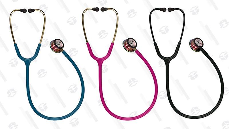 3M Littmann Classic III Monitoring Stethoscope, Rainbow-Finish, Caribbean Blue Tube | $77 | Amazon3M Littmann Classic III Monitoring Stethoscope, Rainbow-Finish, Raspberry Tube | $77 | Amazon3M Littmann Classic III Monitoring Stethoscope, Rainbow-Finish, Black Tube and Headset | $77 | Amazon