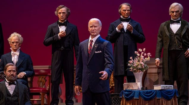 Here's Our First Look at the Biden Bot in Disney s Hall of Presidents