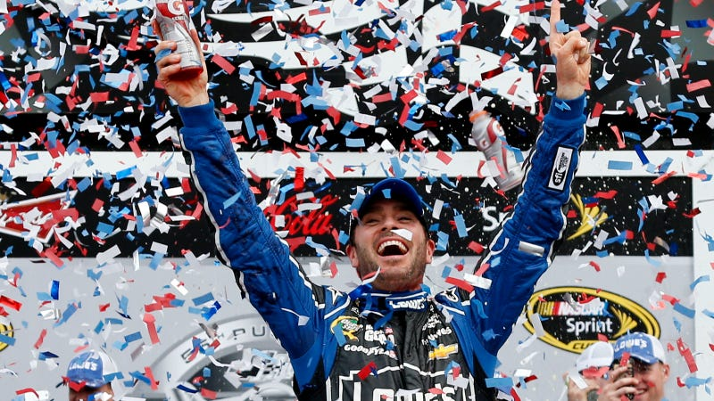Illustration for article titled Jimmie Johnson Wins The Daytona 500