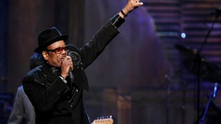 Bobby Womack performs at the 24th Annual Rock and Roll Hall of Fame induction ceremony at Public Hall in Cleveland April 4, 2009Michael Loccisano/Getty Images