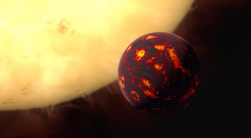 Artist's impression of 55 Cancri e, via ESA/Hubble, M. Kornmesser