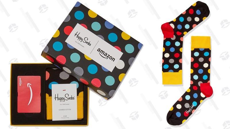 $100 Amazon Gift Card + Happy Sock Bundle | $100 | Amazon