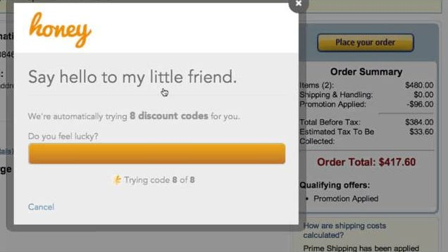 Honey automatic coupons