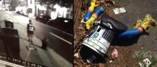 Illustration for article titled Here's Video of the Jerk Who Killed hitchBOT [Update: It's a Hoax]