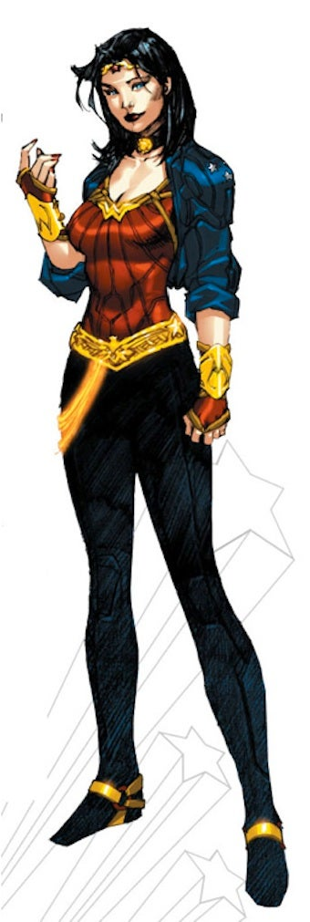 Illustration for article titled Wonder Woman Costume Modified So That It Makes Sense?