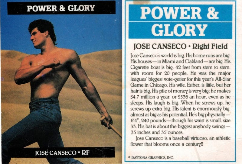 Illustration for article titled Remember When A Shirtless Jose Canseco Really Meant Something?