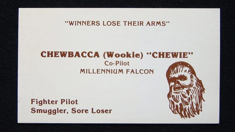 Illustration for article titled If Star Wars Characters Had Business Card, They Would Look Like This