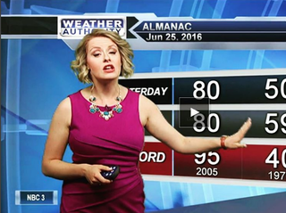 Illustration for article titled This Meteorologist Is Not in the Mood to Take Shit About Her Outfit Choices, Thank You