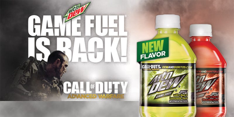 Illustration for article titled Mountain Dew Game Fuel Once Again Heeds The Call Of Duty