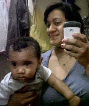 Felicia Barahona and son Miguel in an undated photoTwitter