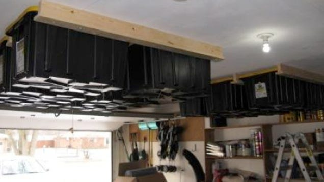 Clever Overhead Storage Hack Bolts Containers To Your