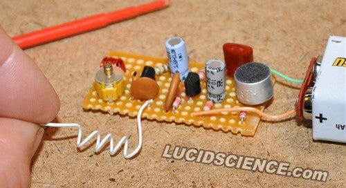build an fm bug for cheap eavesdropping and diy electronics funDiy Electronics Project Lucidscience Electronics Blog #7