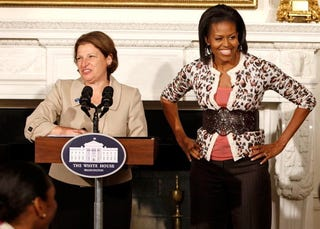 Susan Sher and First Lady Michelle Obama