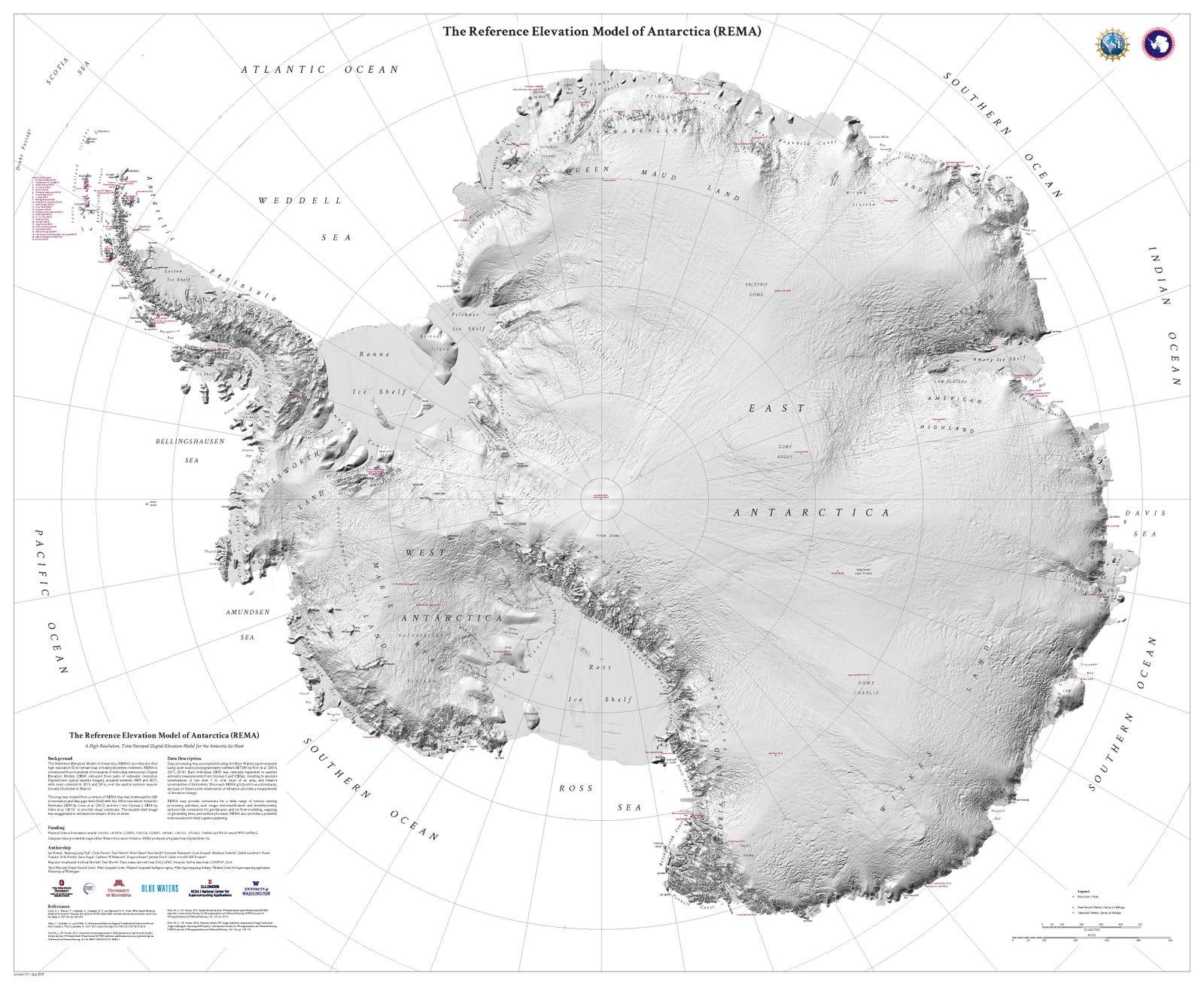 New Super-High-Resolution Map Shows Antarctica In Unprecedented Detail