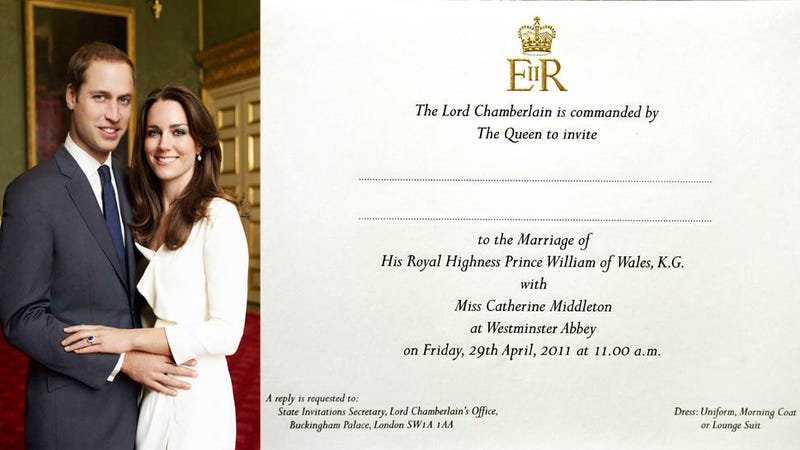 see the royal wedding invitation that isnt waiting in your mailbox