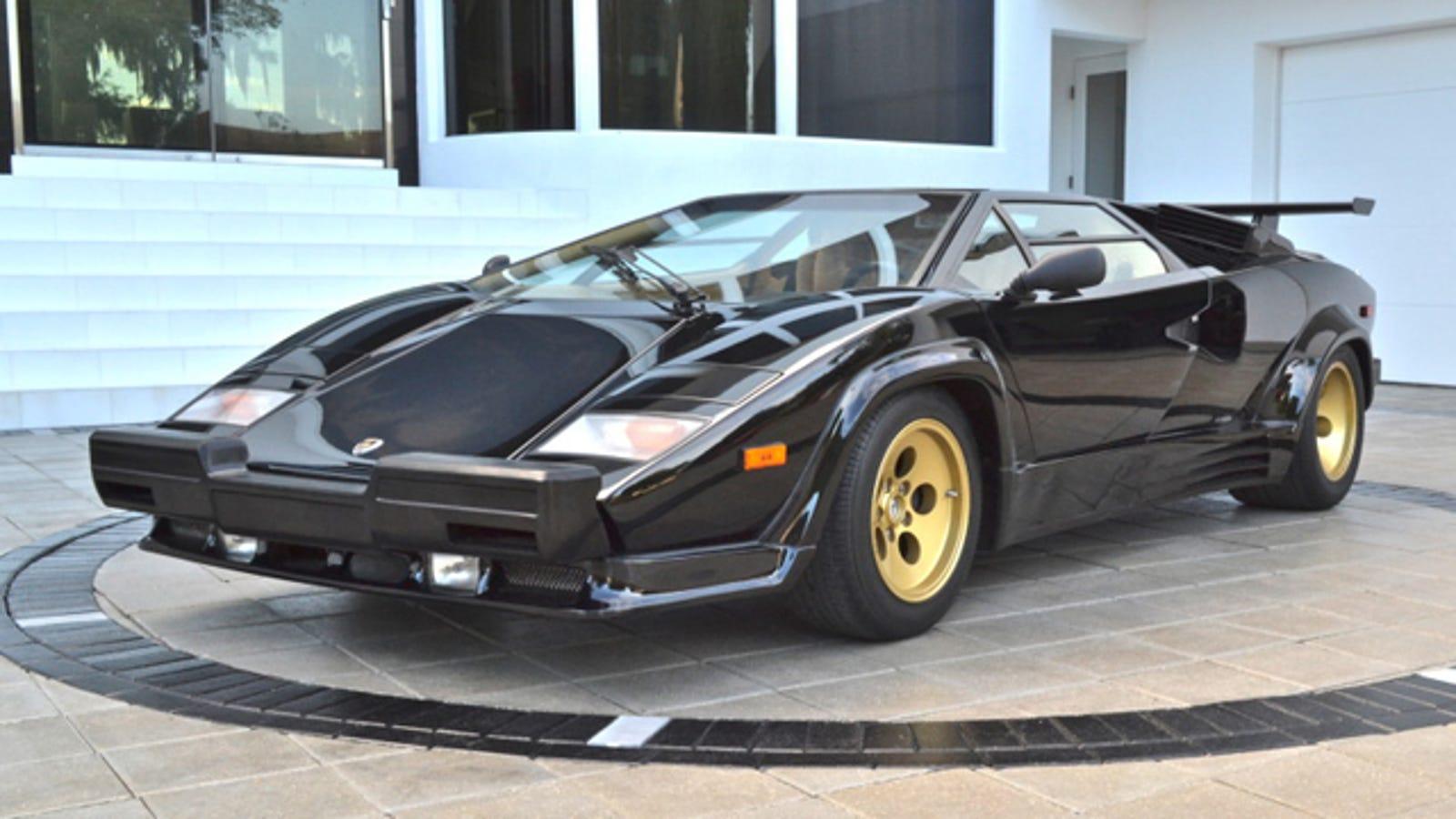 Lamborghini countach american bumper