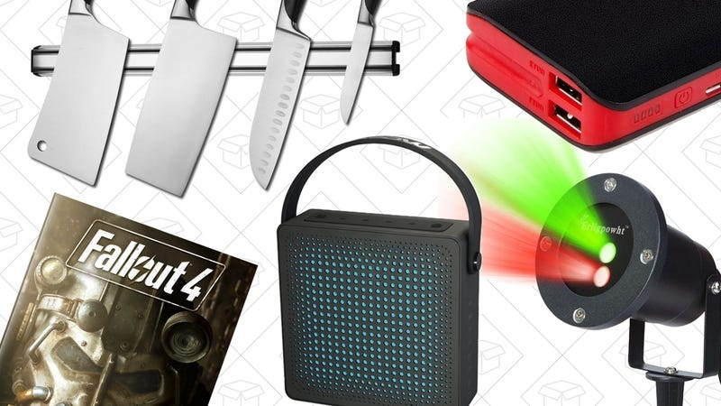 Illustration for article titled Today's Best Deals: Holiday Lasers, Fallout 4, Magnetic Knife Strip, and More