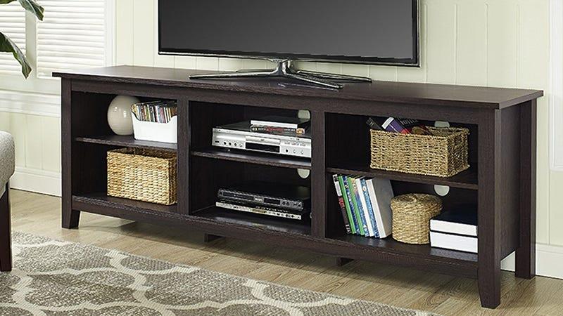 Espresso Wood TV Stand, $119