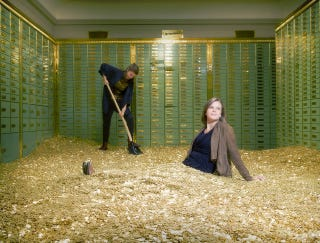 Illustration for article titled Bank vault with 8 Million coins in it for sale....