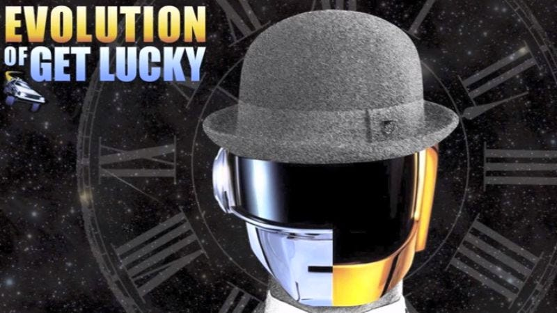 """""""Evolution Of Get Lucky"""" takes listeners through decades of musical styles with Daft Punk"""