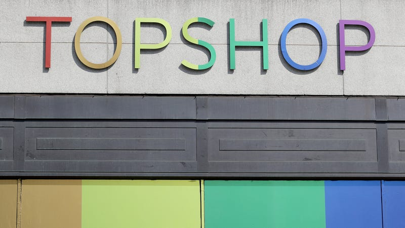 Topshop store on Oxford Street store during Pride In London on July 7, 2018 in London, England.