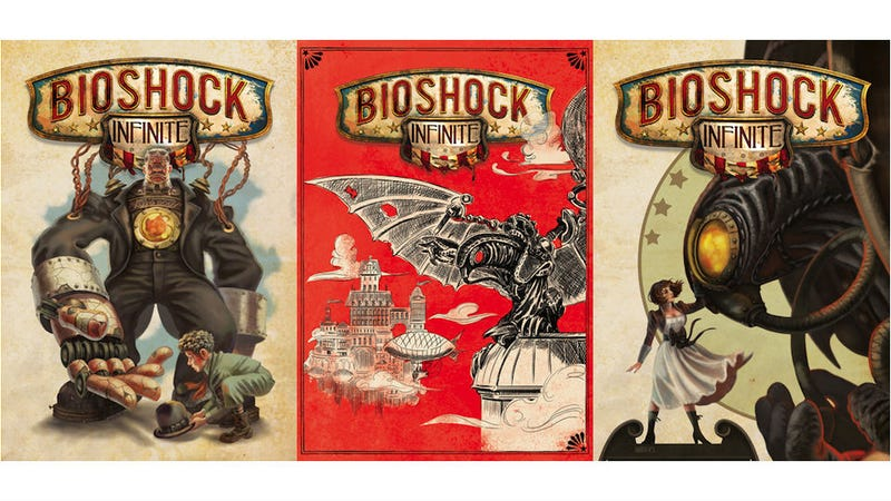 Illustration for article titled You Can Vote For BioShock Infinite's Reversible Cover Art