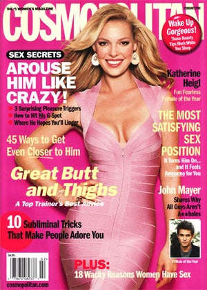 """Illustration for article titled Decoding Cosmo Cover Girl Katie Heigl: """"She Refuses To Waste Time With Convoluted Crap"""""""