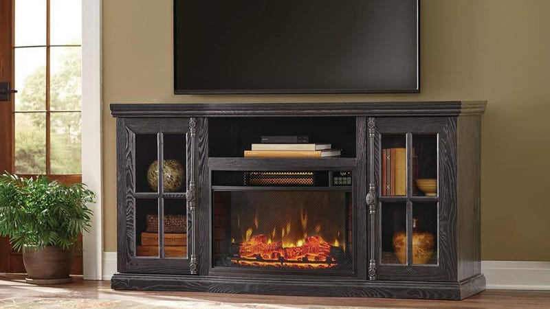 TV Stand w/ Bluetooth Electric Fireplace, $480