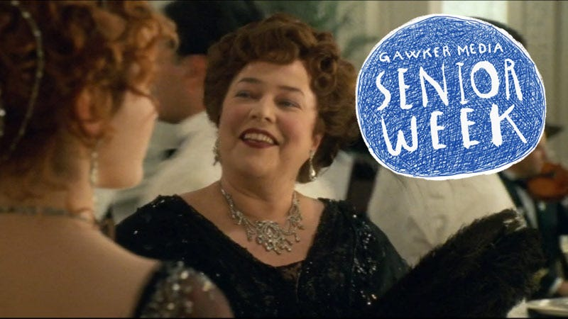 Illustration for article titled Kathy Bates in Titanic as the Unsinkable Molly Brown Is My Plus-Size Style Icon