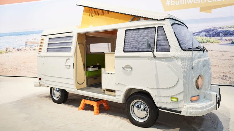 Illustration for article titled This Lifesize VW Camper Built From 400,000 Legos Is Every Car Kid's Dream