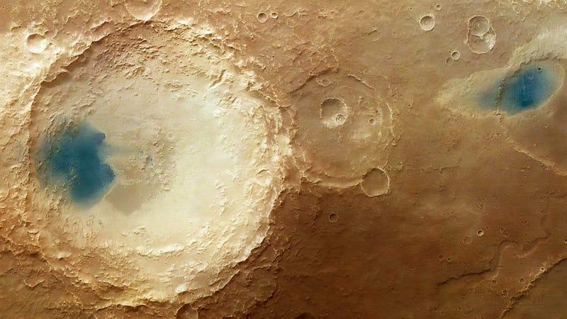 Illustration for article titled La erosión del viento en Marte genera una curiosa ilusión óptica
