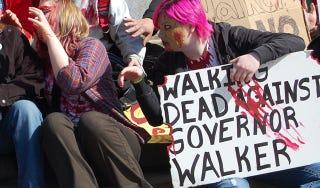 Illustration for article titled Did Zombie Flash Mobs Help Pave the Way for Occupy Wall Street?
